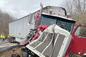 A crash on Route 9 south in Haddam, Conn., on March 30, 2020.