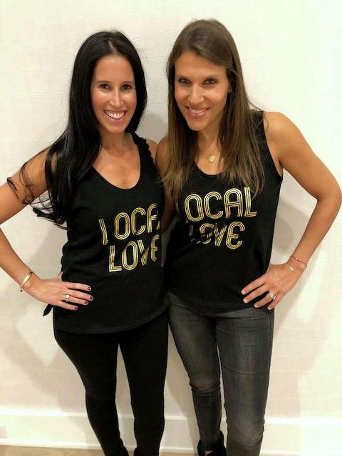 Westportmoms co-founders Megan Rutstein and Melissa Post showing