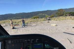 A 20-year-old man at Stinson Beach nearly drowned and was airlifted to John Muir Hospital on Wednesday.