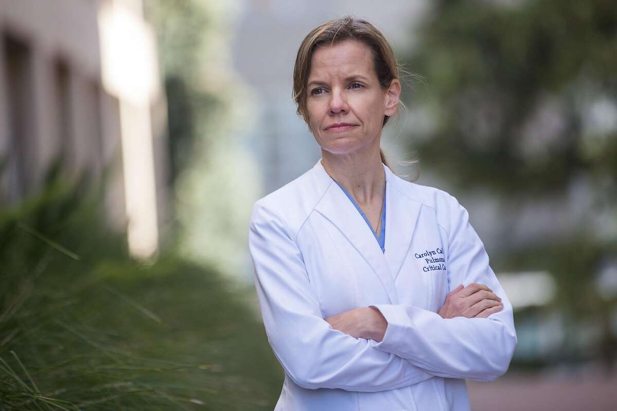 Carolyn S. Calfee, MD MAS, Professor in Residence of Medicine and Anesthesia at UCSF, poses for a portrait on Thursday, March 26, 2020. San Francisco. Calif.