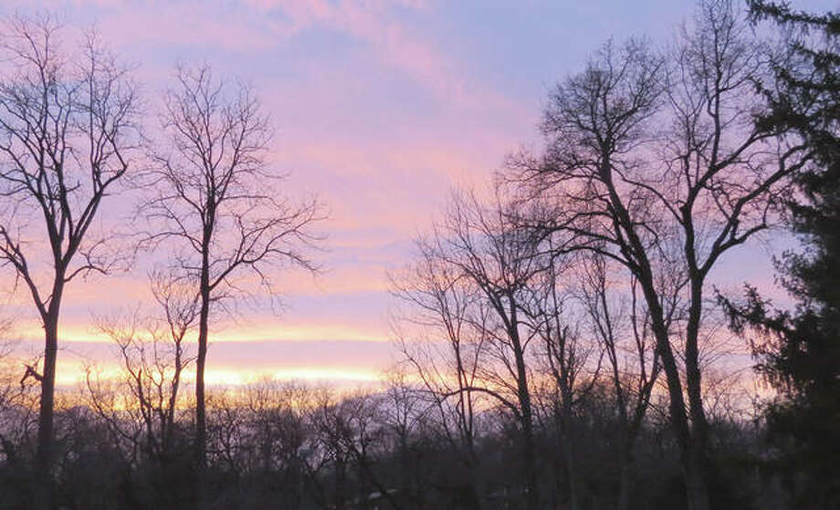 Pastel shades fill the evening sky over Morgan County.