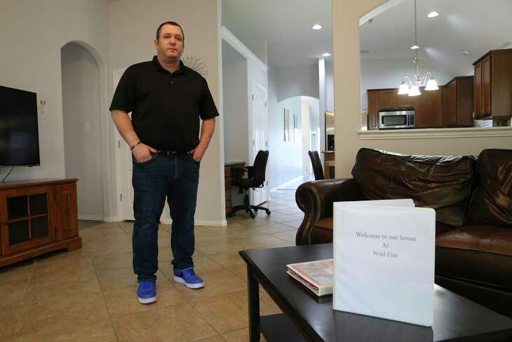 Levi Rodgers, a retired Green Beret, rents several houses to families coming to town for graduations at Joint Base San Antonio-Lackland.