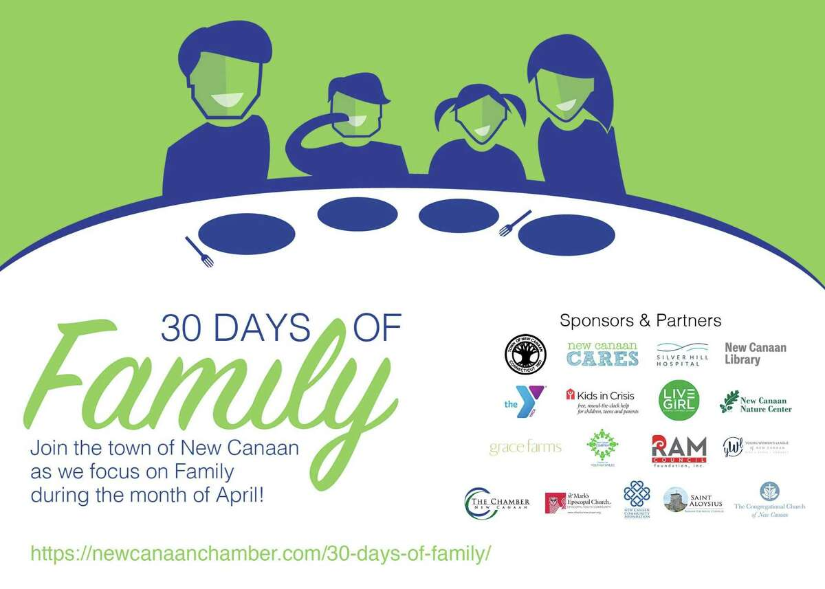 """New Canaan agencies are promoting screen-free dinnertime during April. The month is """"30 Days of Family Month."""""""