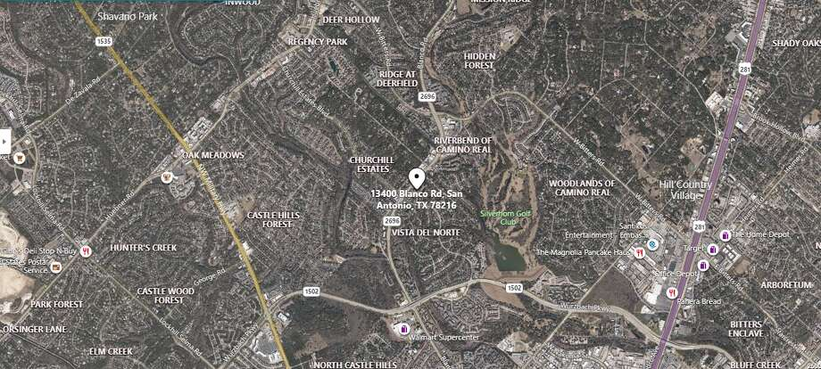 An off-duty police officer was involved in a shootout after a group of teens threatened him during a robbery attempt Wednesday on the North Side, according to the San Antonio Police Department. The map shows the approximate location of the incident. Photo: Google Maps