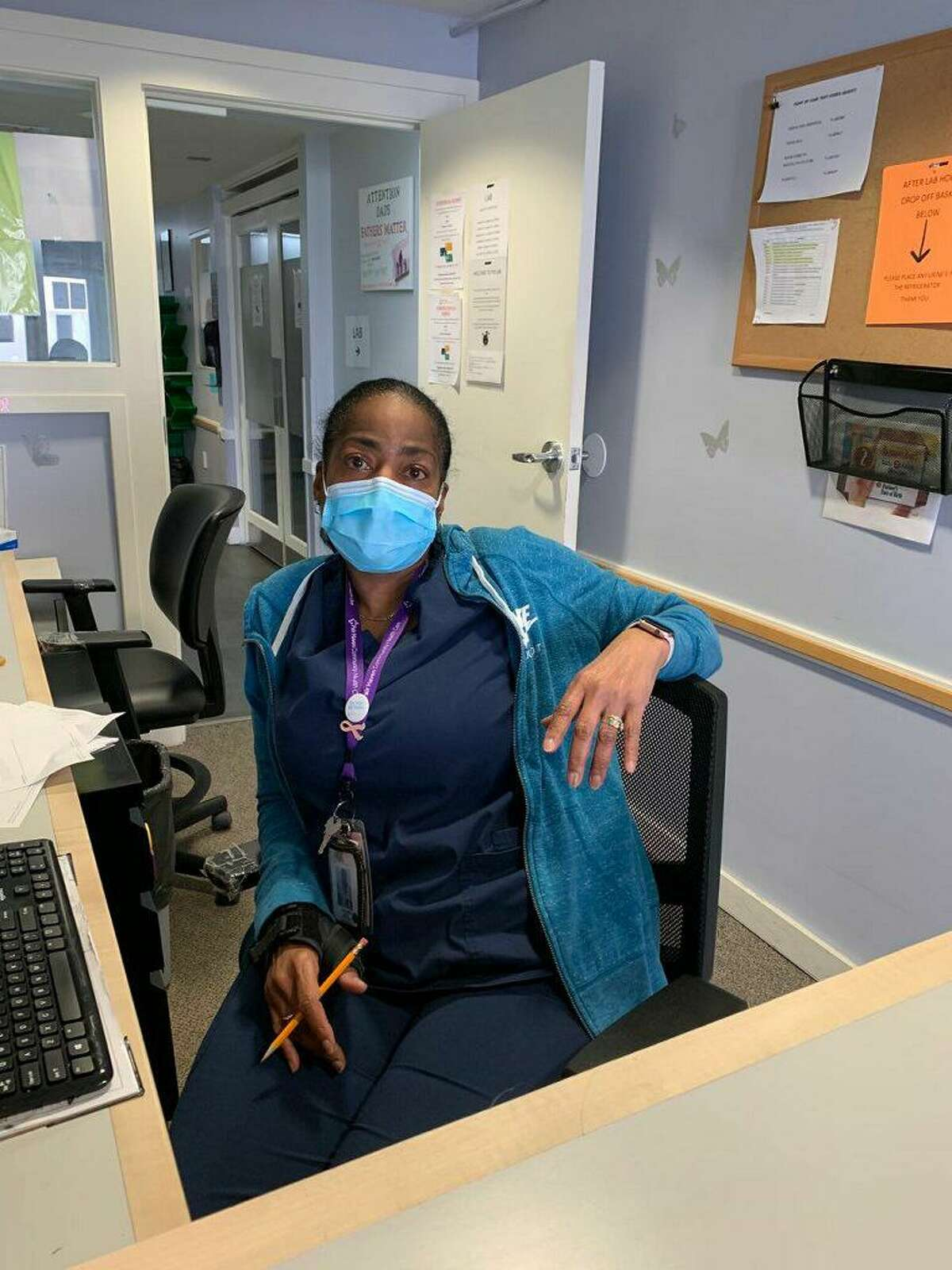 Jeanette Collins works as a lab coordinator at Fair Haven clinic.