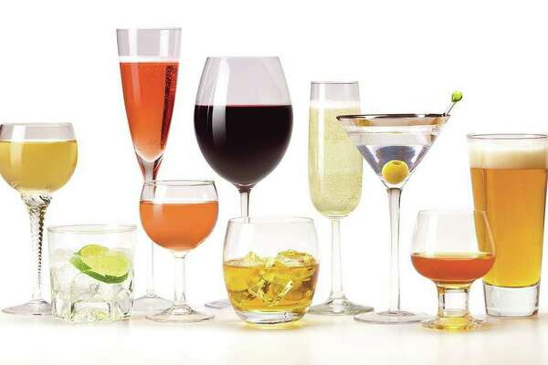 An abundance of various drinks in glasses.