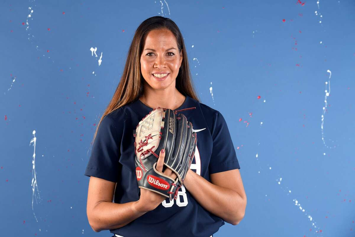 WEST HOLLYWOOD, CALIFORNIA - NOVEMBER 22: Softball player Cat Osterman poses for a portrait during the Team USA Tokyo 2020 Olympic shoot on November 22, 2019 in West Hollywood, California. (Photo by Harry How/Getty Images)