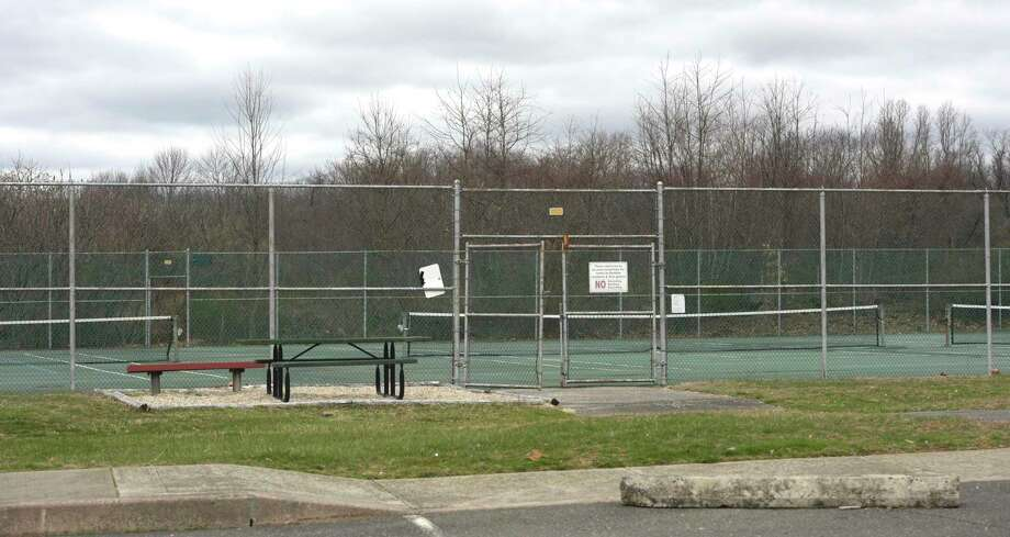 The tennis courts were empty at the Redding Community Center, Tuesday, March 31, 2020, in Redding, Conn. Photo: H John Voorhees III / Hearst Connecticut Media / The News-Times