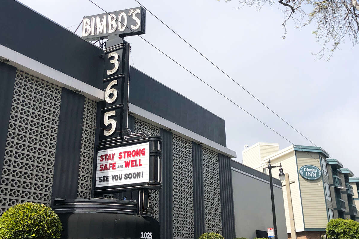 Bimbo's 365 in San Francisco urges people to stay strong.