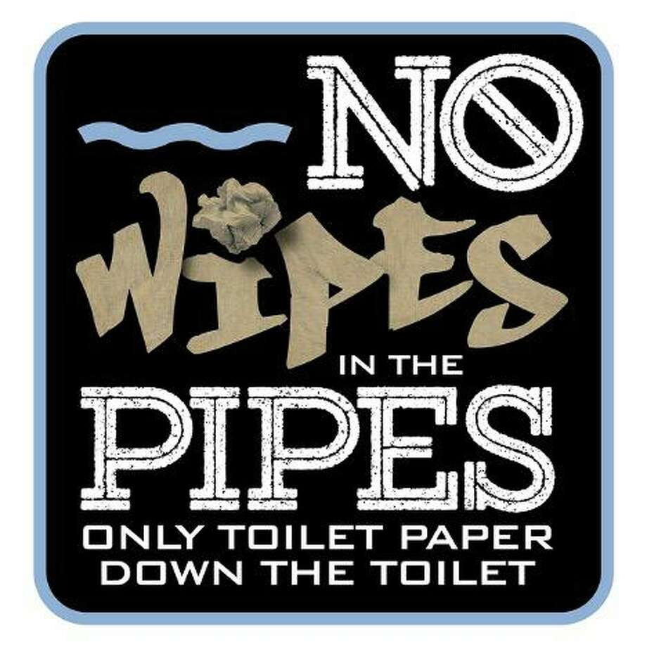 Ridgefield Water Pollution Control Authority (WPCA) officials are asking residents to please refrain from flushing anything other than toilet tissue in their toilets. Photo: Contributed Photo