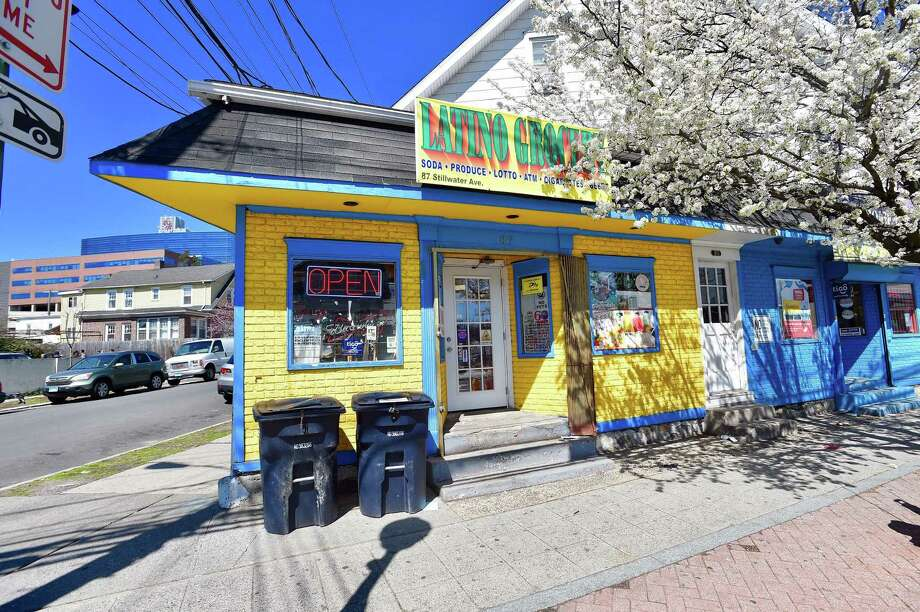 The Latino Grocery on Stillwater Avenue was robbed Wednesday night in a crime police say was blamed on the coronavirus. Photo: Matthew Brown / Hearst Connecticut Media