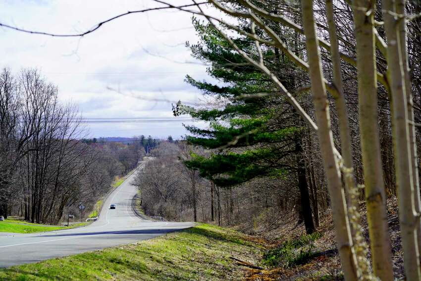 A view of some wooded areas along Red Mill Road on Thursday, April 2, 2020, in East Greenbush, N.Y. The town has drafted a nature preservation plan to protect open spaces and natural areas. (Paul Buckowski/Times Union)