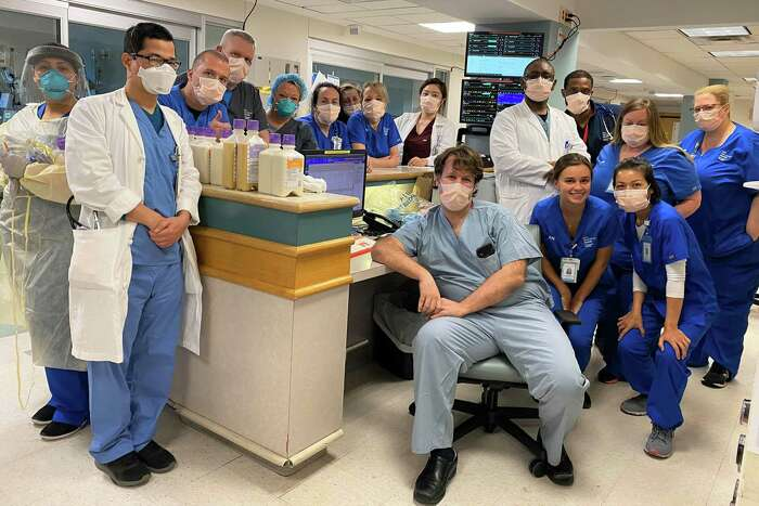 Anna Ashcroft, critical care nurse in the medical ICU at Bridgeport Hospital of her colleagues are her heroes.