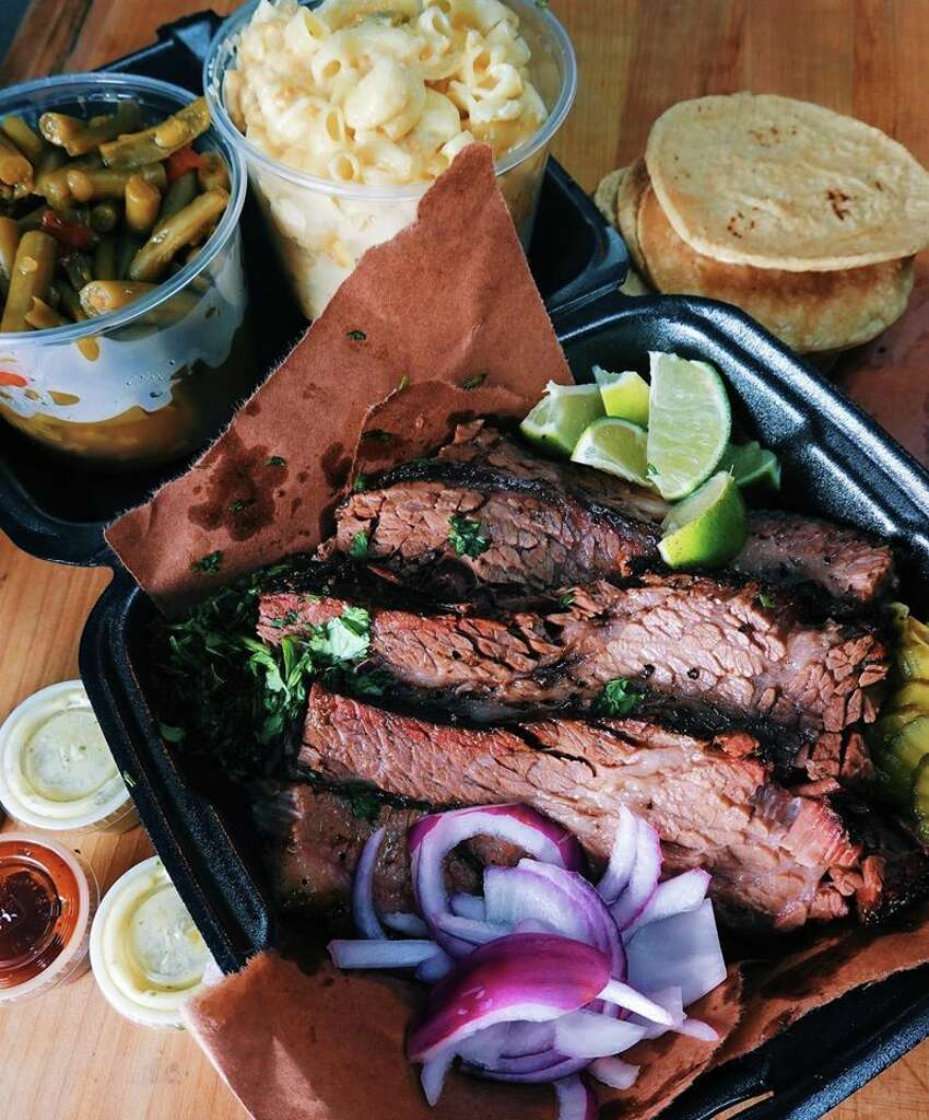 Holy Smoke BBQ + Taquitos: For $29.99, you can get 1 1/2 pounds of brisket, 1 pound of smoked mac and cheese, 1 pound of country-style green beans, 12 pack of tortillas, salsa, barbecue sauce and all the condiments. Location: 2410 North St. Mary's Street; 210-550-2426; Walk-up only; Tuesday through Sunday from 11 a.m. to sellout; Holy Smoke BBQ + Taquitos.