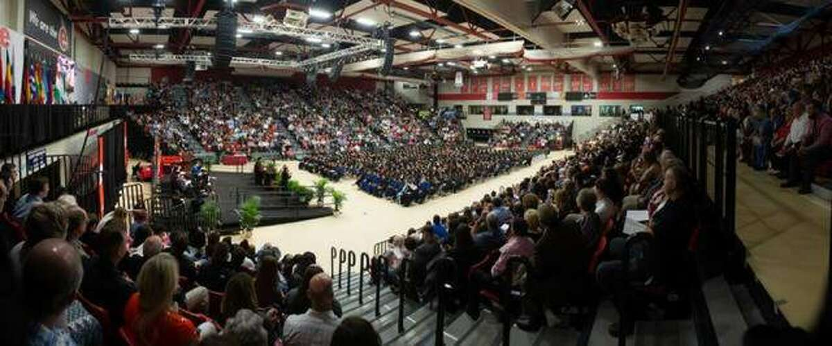 A full house was on hand for the evening School of Education, Health and Human Behavior ceremony on May 10, 2019 at SIUE, This year's commencement ceremonies have been postponed due to the coronavirus outbreak and the school has sent out a survey to spring graduates, asking whether they would rather have a virtual ceremony in August or come back for the fall semester commencement in December.