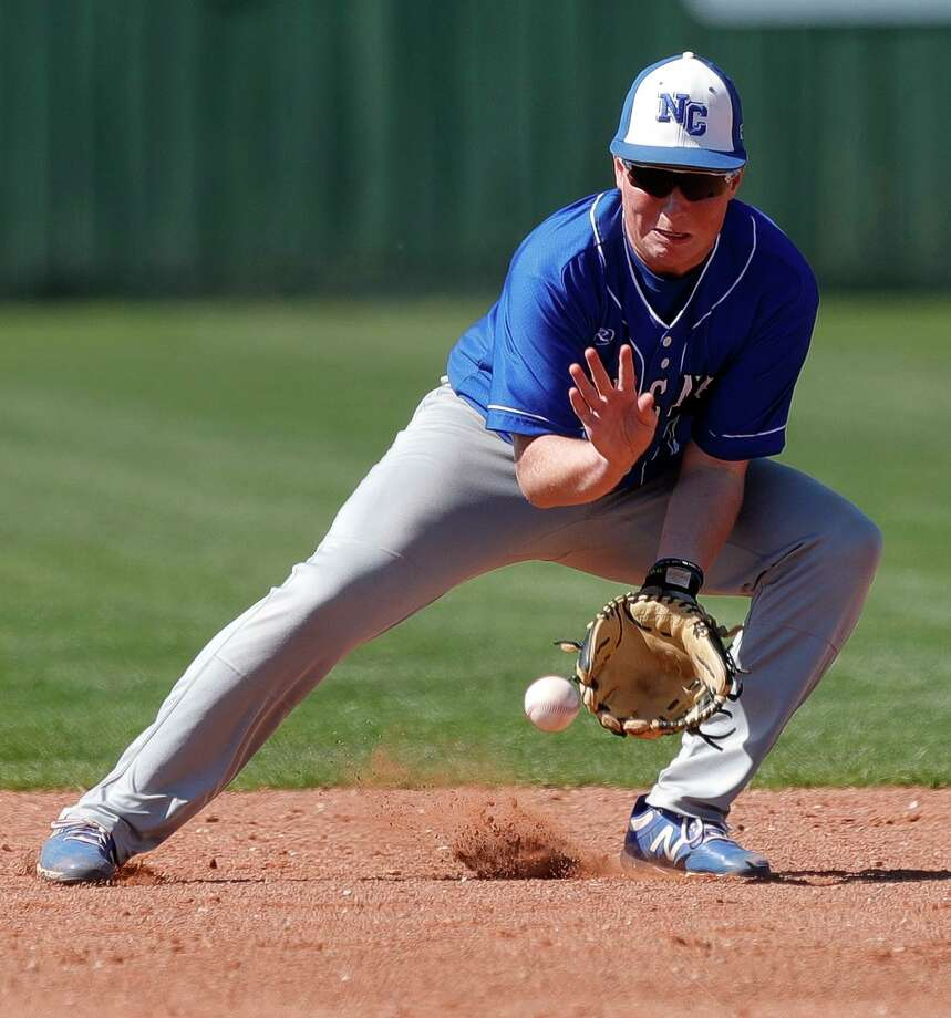 New Caney second baseman Ty Bridges comes from a family of baseball players, which is a big reason he enjoys the sport. Photo: Jason Fochtman, Houston Chronicle / Staff Photographer / Houston Chronicle  © 2020