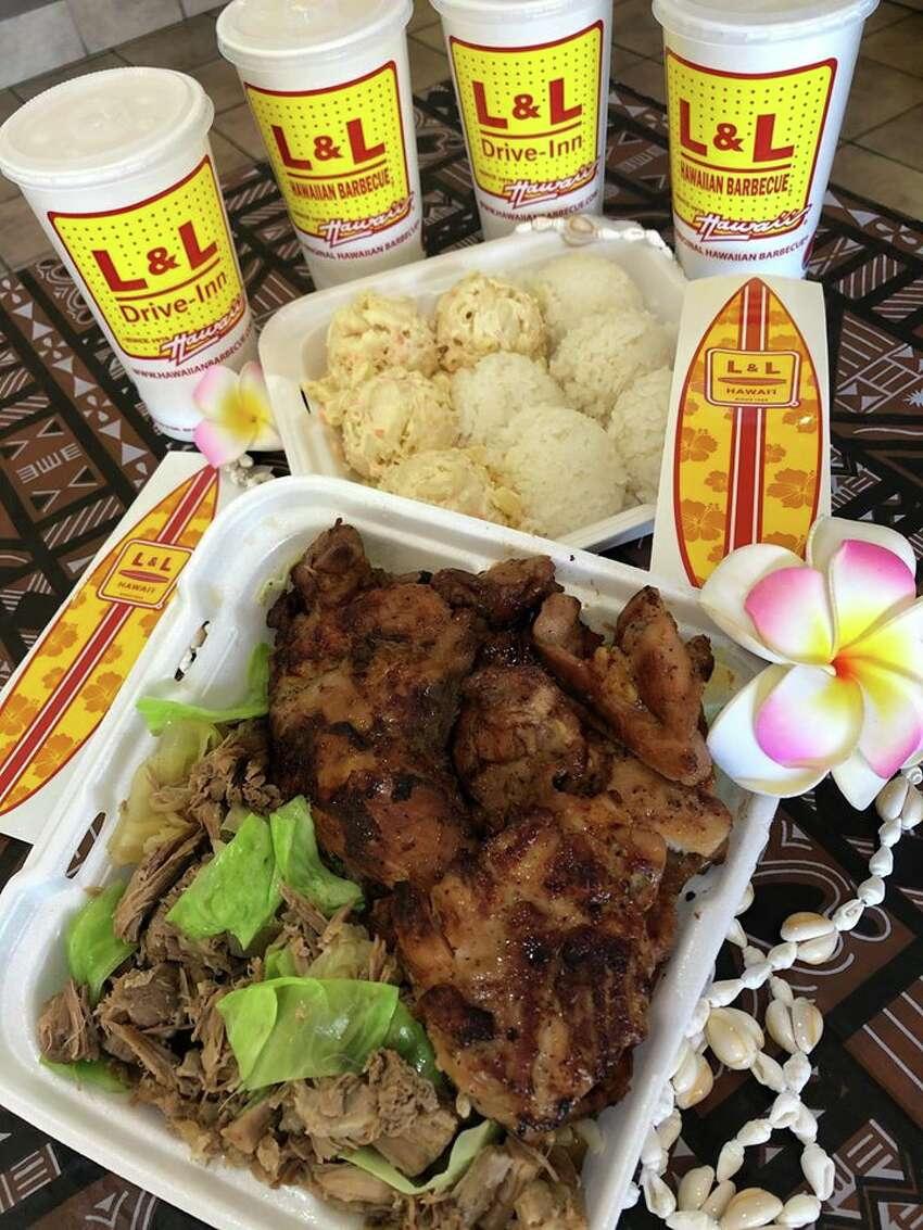 L & L Hawaiian Barbecue: For $24.99, you can get six pieces of barbecue chicken, 14 ounces of kalua pork, cabbage mac salad, steamed rice and four fountain drinks. Location: 1302 Austin Hwy Ste 1; 210-474-6699; curbside and carryout (Doordash) available; Monday through Sunday 11 a.m. to 8 p.m.; L & L Hawaiian Barbecue.