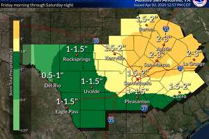 The San Antonio area could face severe thunderstorms on Friday, according to the National Weather Service.