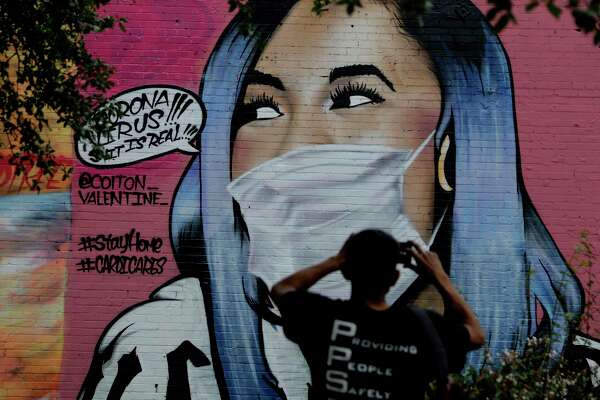 Street artists take on coronavirus with graffiti in Houston and ...