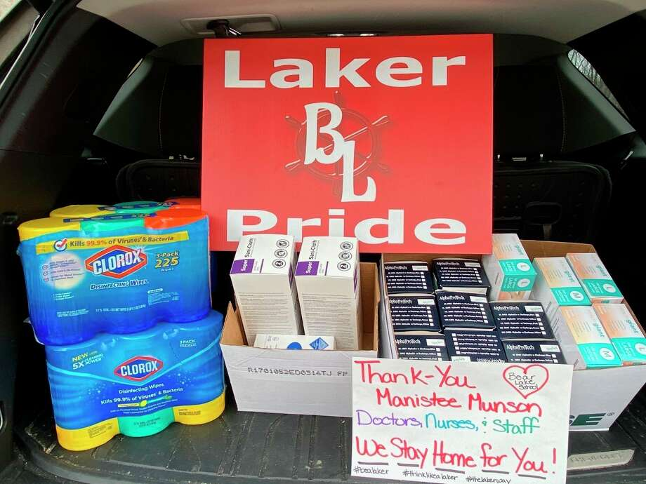 Bear Lake Schools recently donated excess masks, gloves and Clorox wipes to be used at Munson Healthcare Manistee Hospital. School officials felt it would be a great way to give back to the community that has supported them over the years. (Courtesy photo)