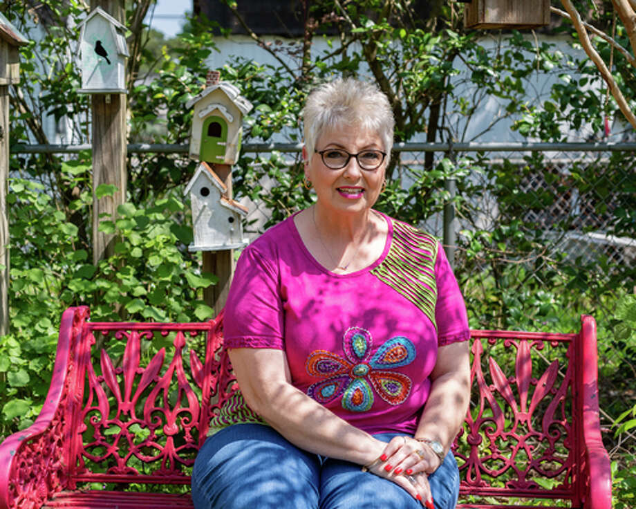 Jody Holton is a master gardener who lives across from Griffing Park in Port Arthur. Her garden at home is filled with some of her favorite flowers that gives her blooms to look at throughout the year. Photograph made on March 25, 2020. Fran Ruchalski/The Enterprise Photo: Fran Ruchalski/Staff Photographer / © 2020 The Beaumont Enterprise