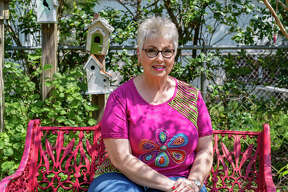 Jody Holton is a master gardener who lives across from Griffing Park in Port Arthur. Her garden at home is filled with some of her favorite flowers that gives her blooms to look at throughout the year. Photograph made on March 25, 2020. Fran Ruchalski/The Enterprise