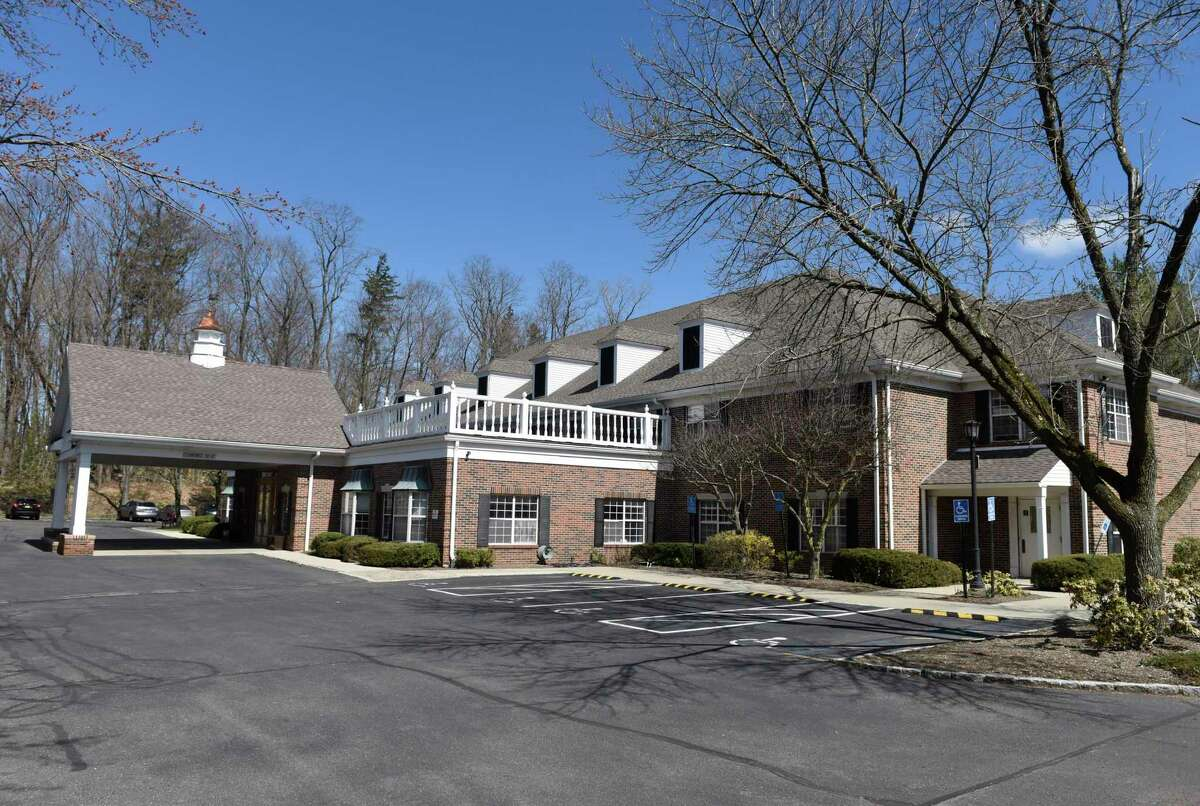 The Greenwich Woods rehabilitation and nursing home in Greenwich, Conn., photographed on Thursday, April 2, 2020. The state is looking at Greenwich Woods and the Eastern Greenwich Civic Center as facilities to separate long-term care residents diagnosed with coronavirus.