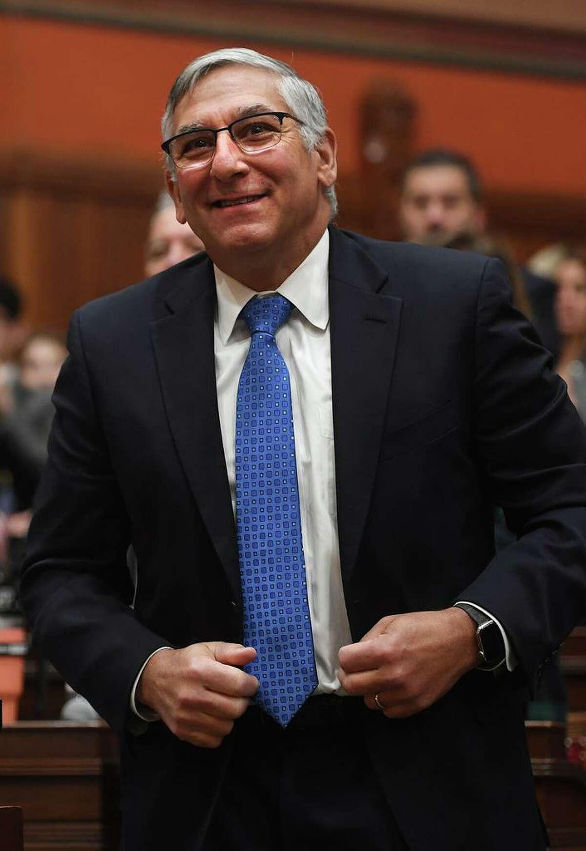Senate Minority Leader Len Fasano, R-North Haven, at the state legislature in Hartford, Conn., Feb. 5, 2020.