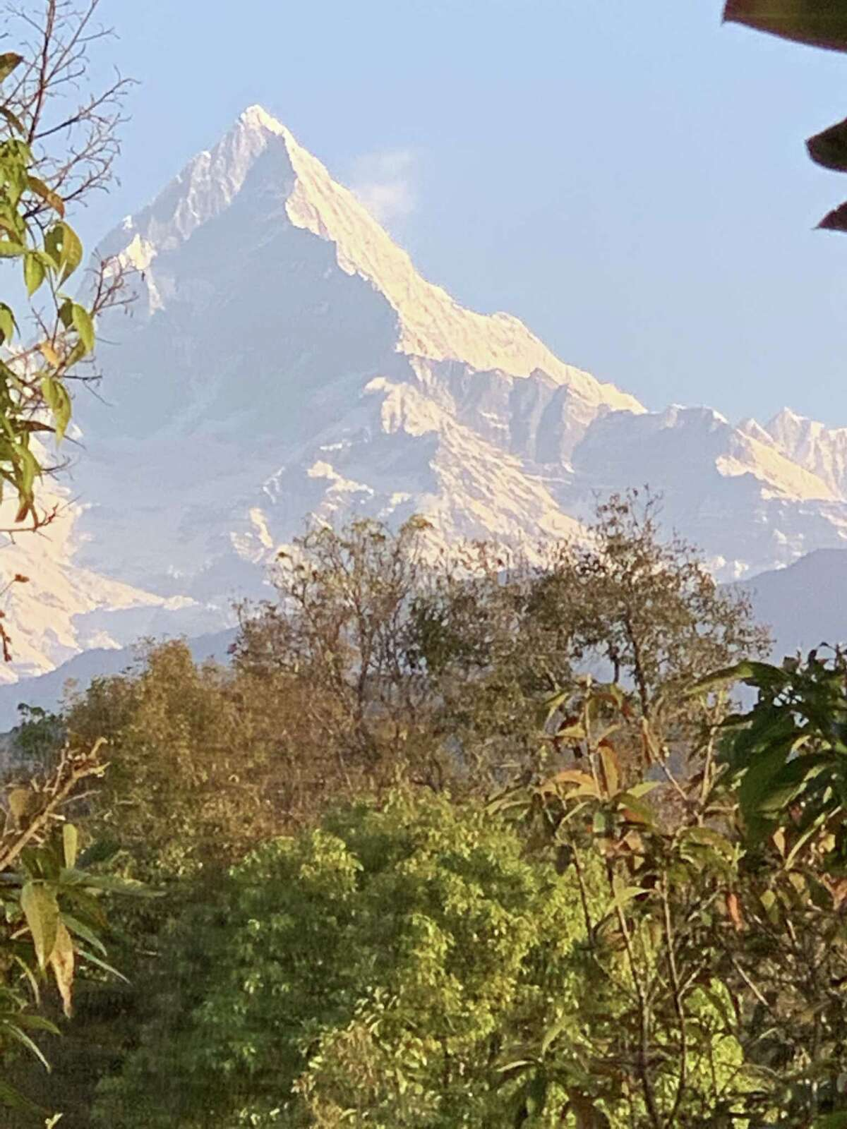 "Machapuchare or ""Fishtail"" in the Annapurna range. (Patricia Pinchback)"