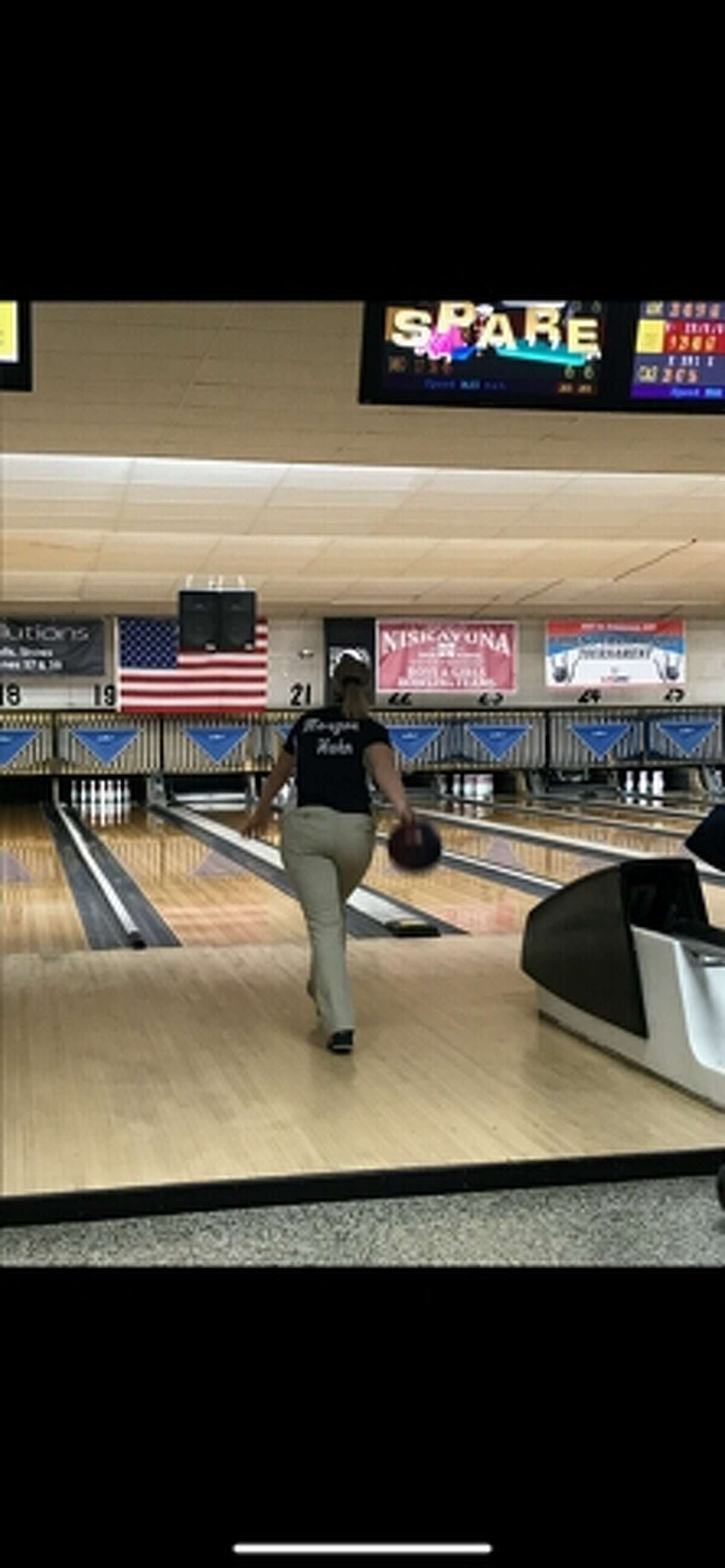 Morgan Hahn showed leadership for Columbia's bowling teams this season and led the Suburban Council with a 197 average. (Provided photo)
