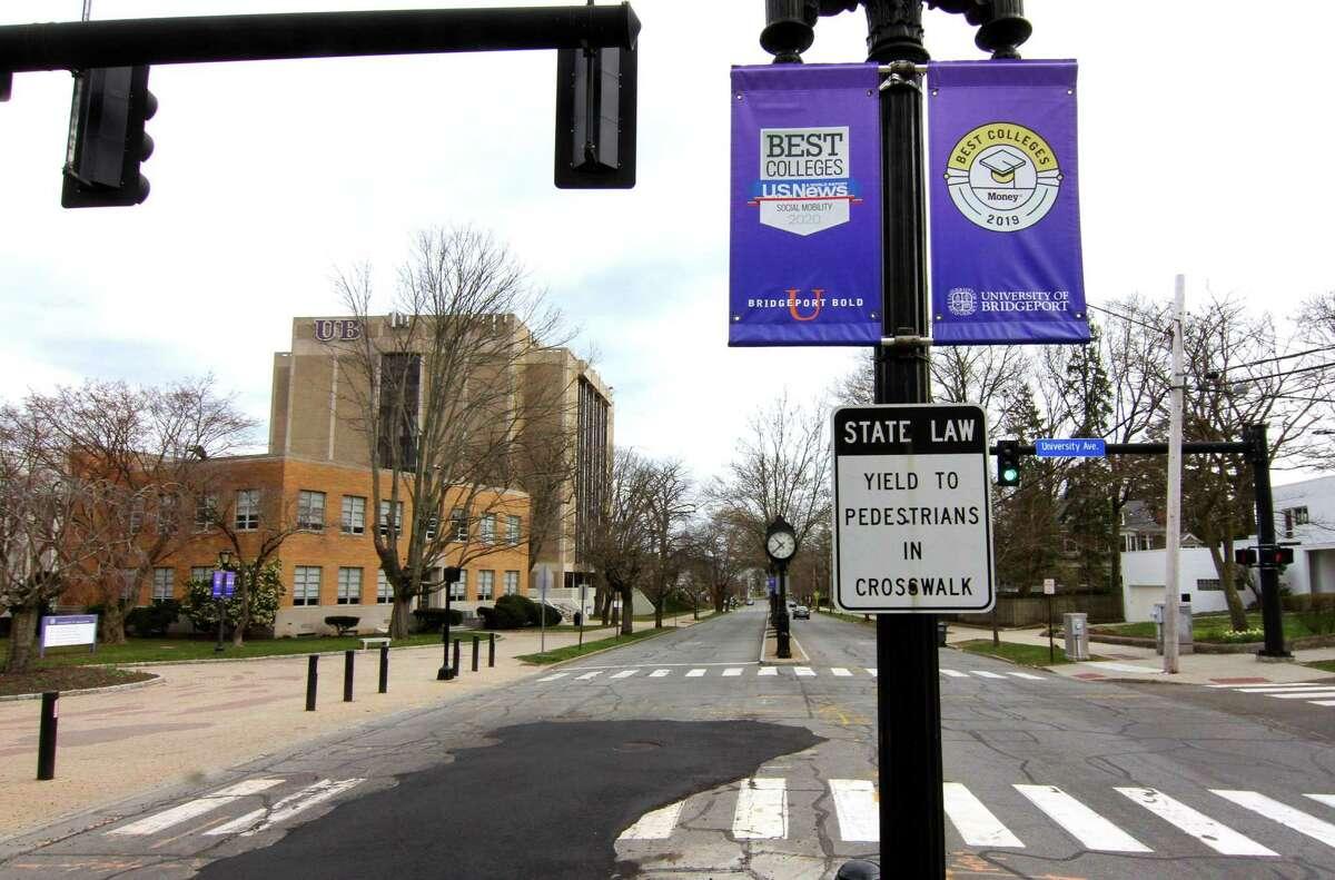 University of Bridgeport campus in Bridgeport, Conn., on Thursday Mar. 2, 2020.