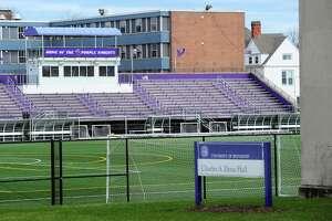 File photo of the University of Bridgeport campus in Bridgeport, Conn., taken on Thursday March 2, 2020.