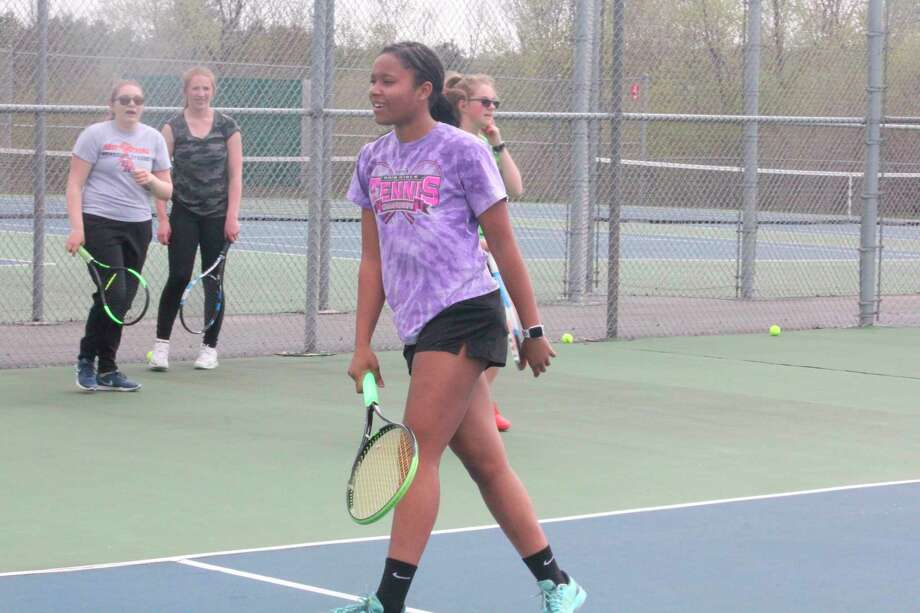 Eden Short has been Big Rapids' No. 1 singles player the past two seasons. (Pioneer file photo/John Raffel)