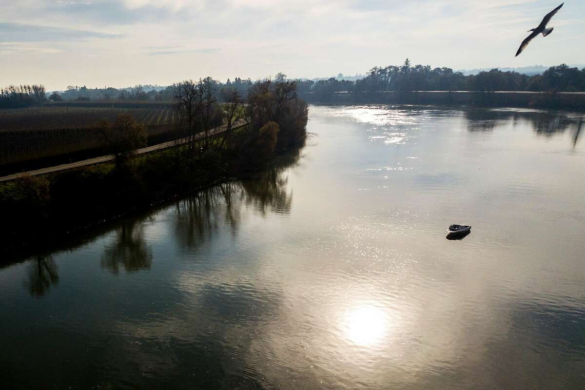 The Sacramento River, Tuesday, Dec. 31, 2019, in Clarksburg, Calif. The area is near a potential site for a new single tunnel beneath the Sacramento-San Joaquin River Delta that will help move Northern California water south to cities and farms, state water officials said Wednesday.