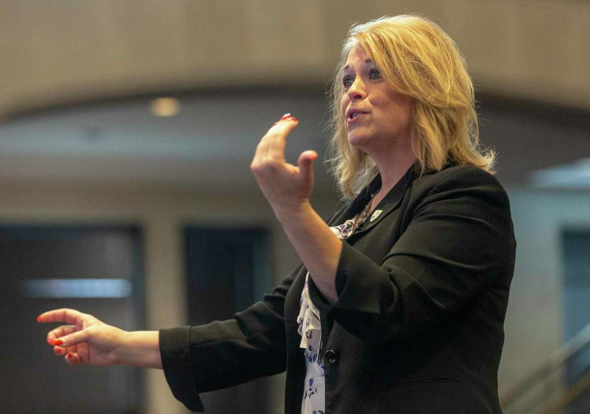 Metro Health Director Dawn Emerick speaks to City Counil members during a meeting April 2, 2020. Emerick laid out a $70 million plan Tuesday to ramp up local COVID-19 testing and contact tracing investigations.