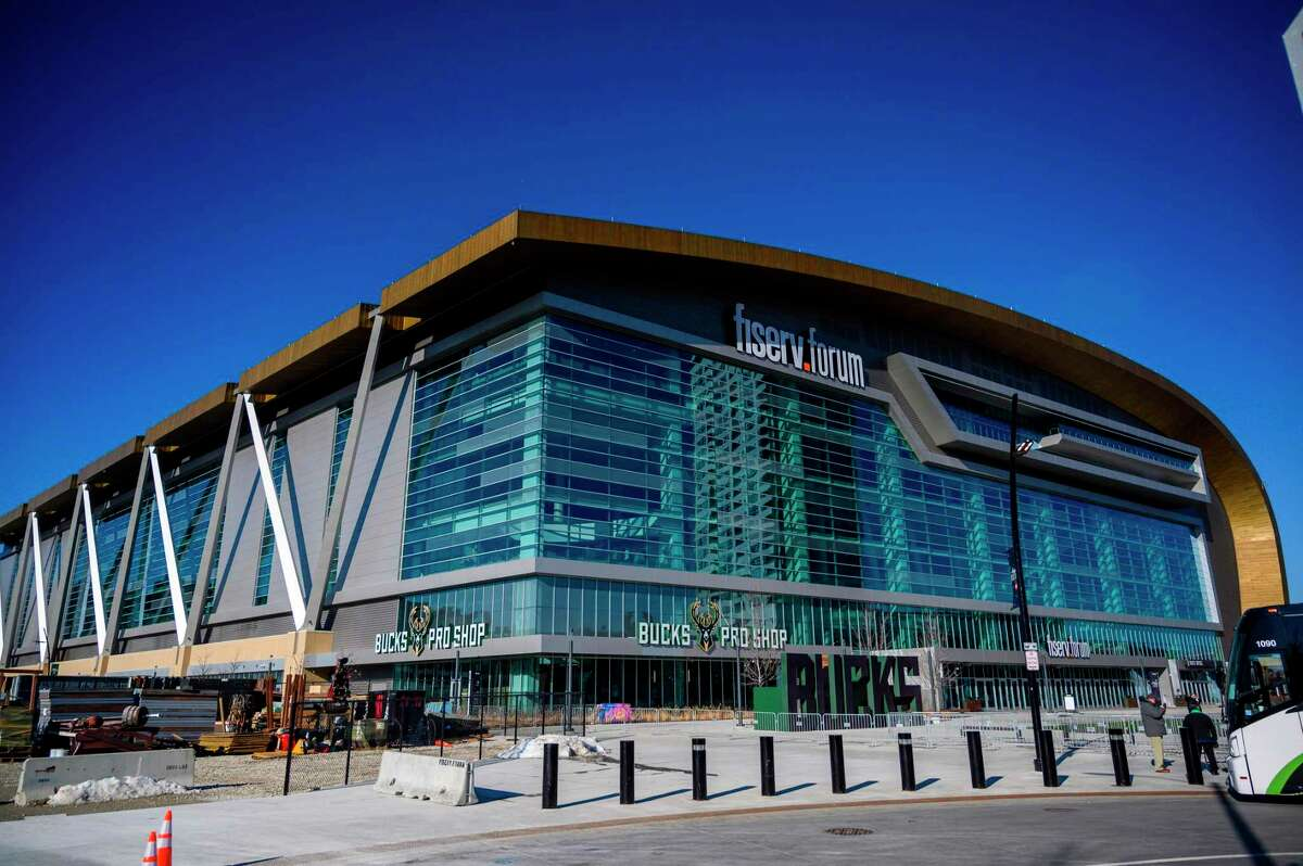 (FILES) In this file photo taken on January 7, 2020, the Fiserv Forum is seen during a media walk through ahead of the Democratic National Convention in Milwaukee, Wisconsin. - US Democrats on April 2, 2020, postponed their national convention until August 17 over concerns about coronavirus, pushing back by five weeks the gathering that nominates the party's presidential candidate. The decision came after the party's likely nominee, Joe Biden, expressed support for postponing the convention, originally scheduled for July 13-16 in Milwaukee. (Photo by Eric BARADAT / AFP) (Photo by ERIC BARADAT/AFP via Getty Images)