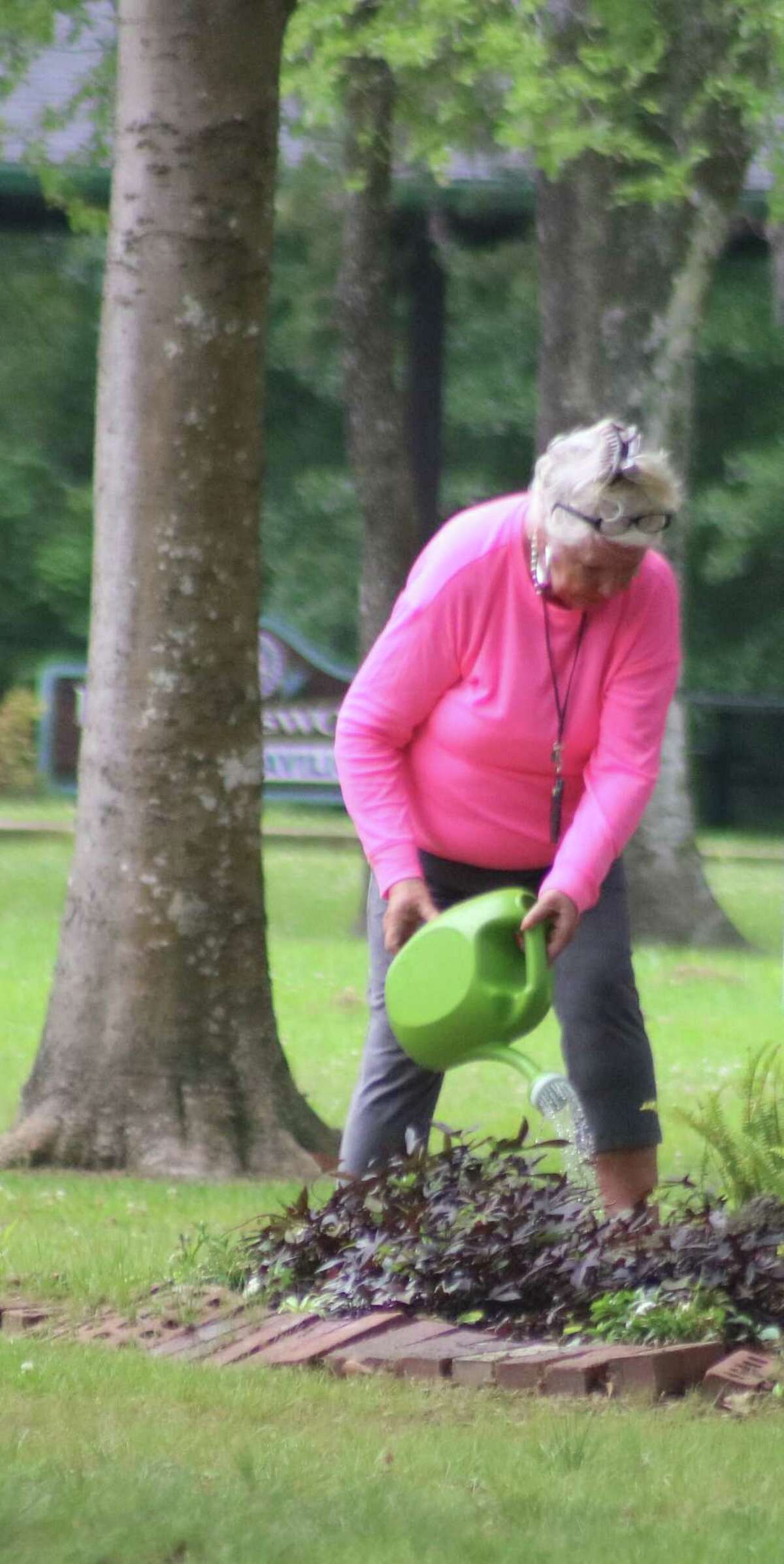 Plants of all variety in the park receive plenty of TLC from Wanda Murphy.