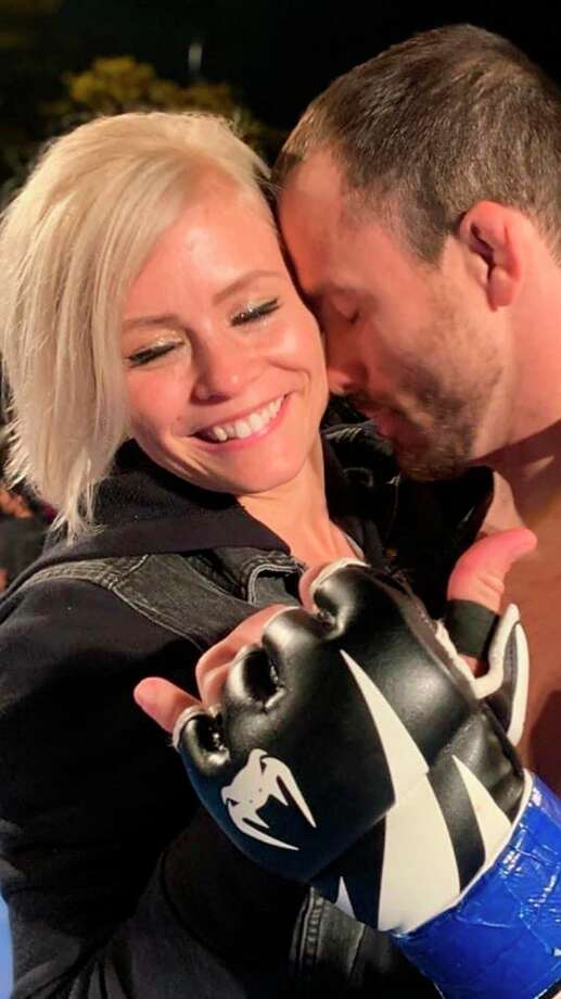 Engaged couple Kaelen Doan and Tim Eschtruth train together in mixed martial arts and push each other while strengthening their relationship. (Photo provided)