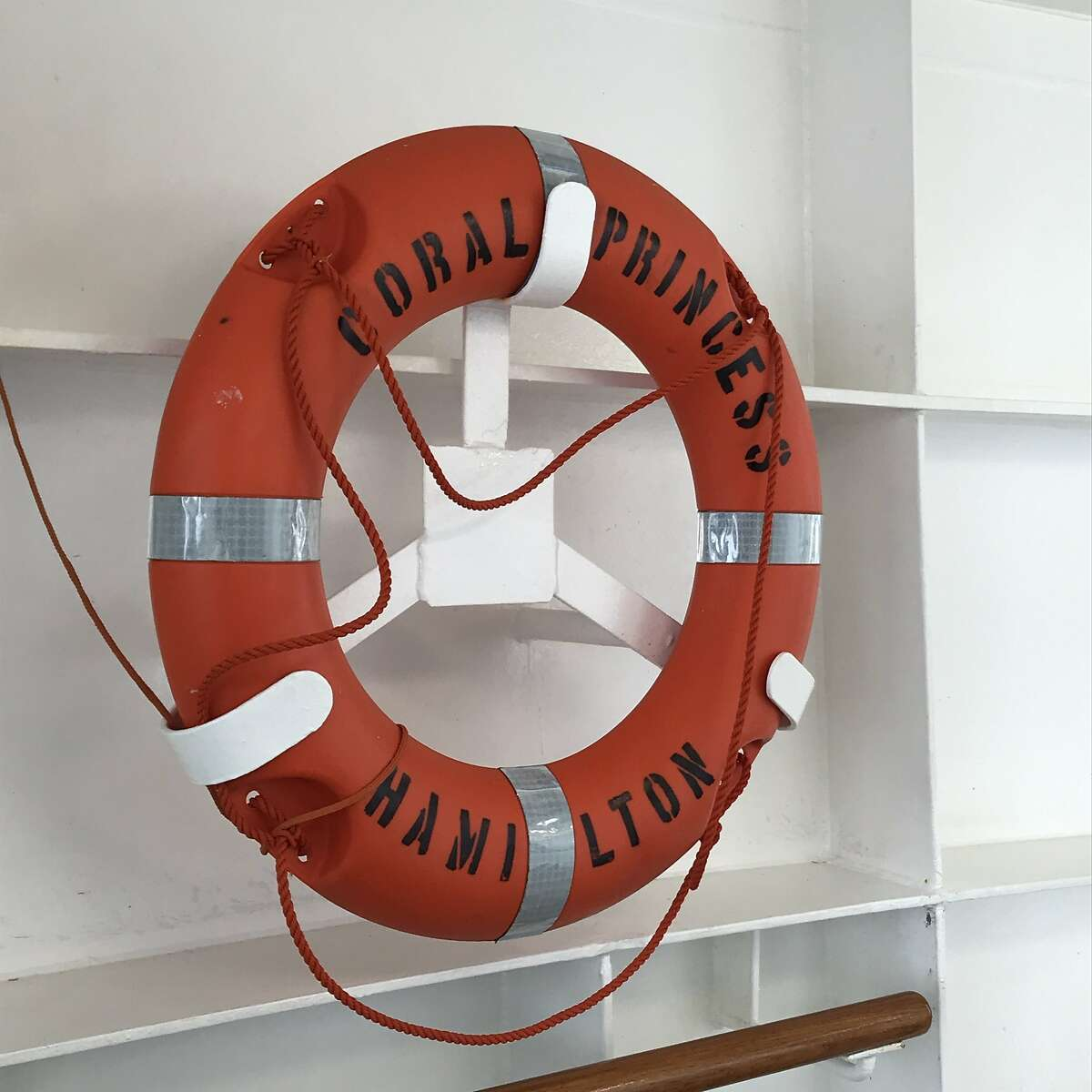 A life preserver aboard the Coral Princess