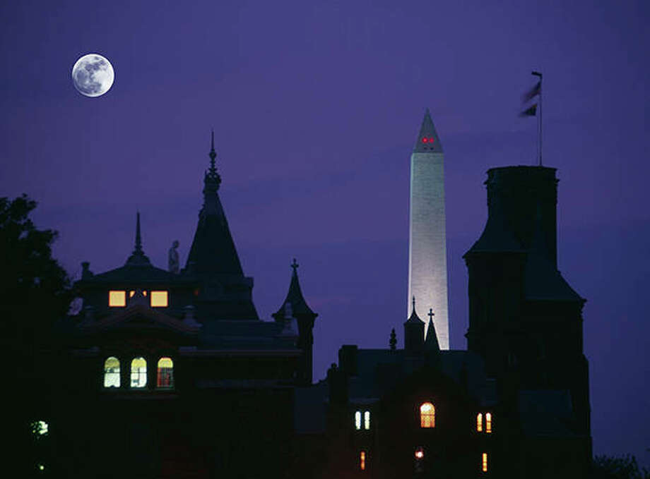 The Smithsonian Museum in Washington, D.C., at dusk. Photo: Getty Images