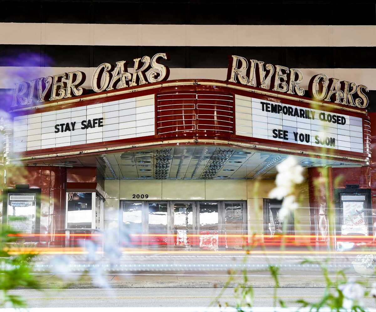 River Oaks Theater kept it's lights off but had some messages for Houstonians on Friday, March 20, 2020.Analysts expect films to spend less time in theaters before they become available in living rooms after the pandemic subsides.