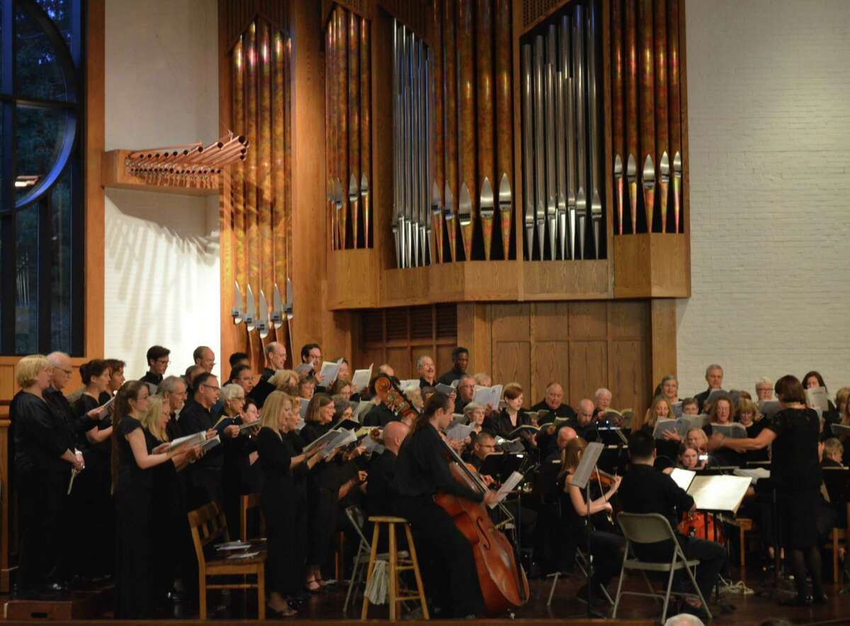 File photo of Music on the Hill's Summer Chorus performing the music of Dvorak on July 25, 2019, at St. Matthew's Episcopal Church in Wilton, Conn.
