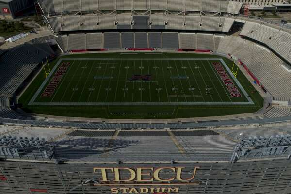 University of Houston's TDECU Stadium photographed Tuesday, March 31, 2020, in Houston. The university closed its campus to help prevent the further spread of COVID-19 virus.
