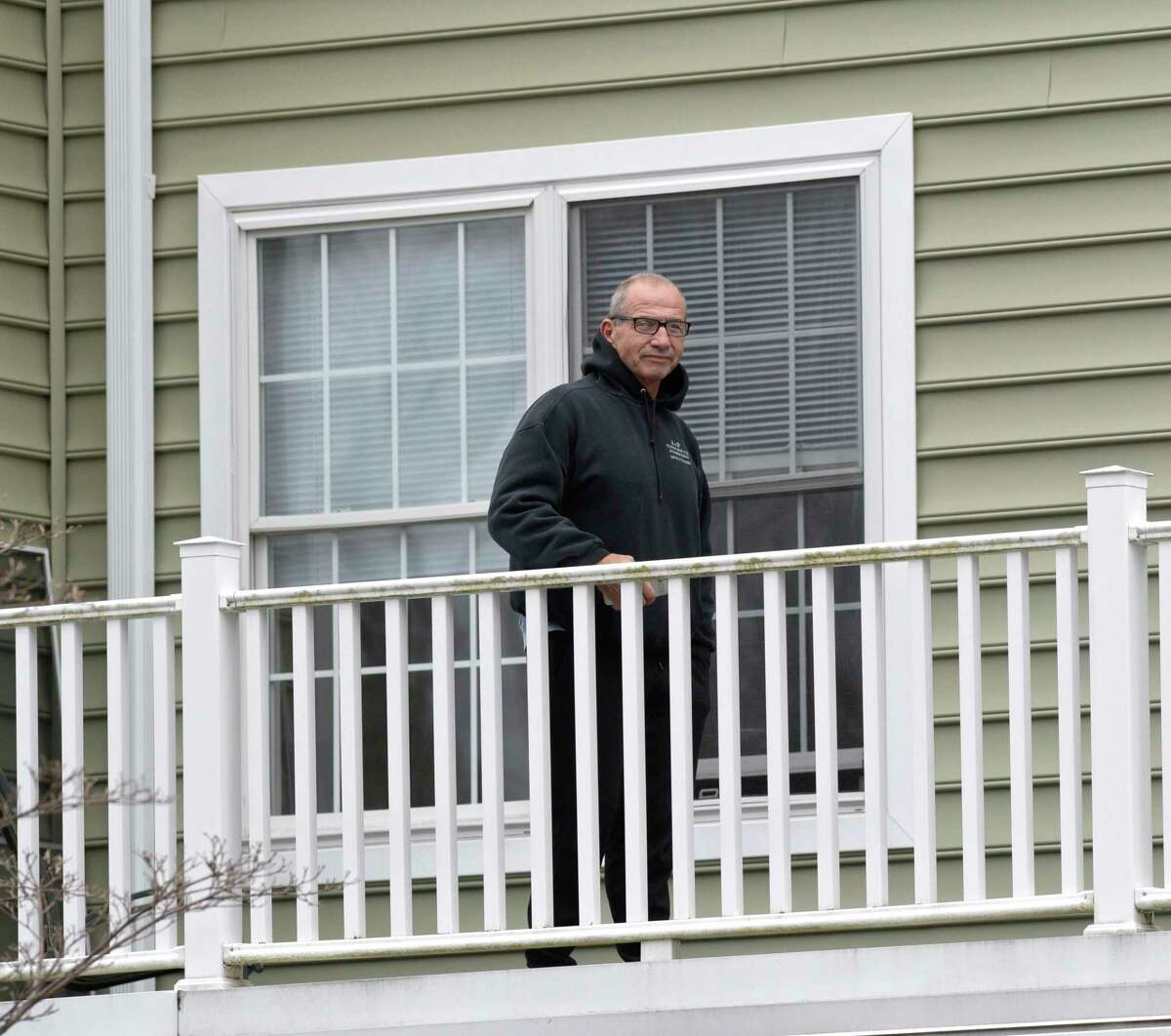 Bill Mason hopped a railing so he could be with his mother in her final hours. Because Ridgefield Crossings, her assisted-living facility, has been locked down to visitors, Bill Mason, in his 60s, said he climbed onto the balcony - and set up a chair outside her window Tuesday to be with her at the end.