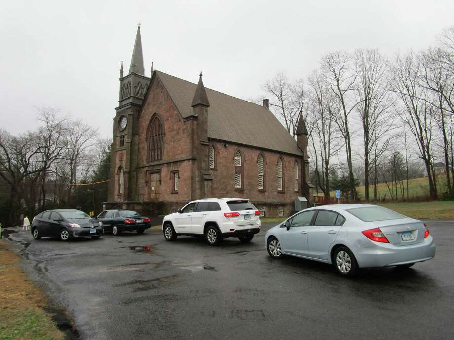 Drive-through prayers were offered March 29 at the Northford Congregational Church. Photo: Contributed Photo