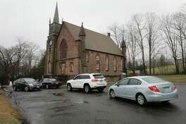 Drive-through prayers were offered March 29 at the Northford Congregational Church.