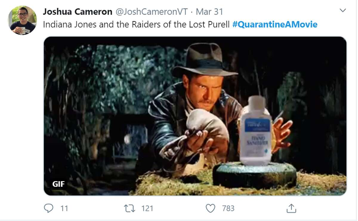 People take to Twitter to share their versions of renaming classic films with quarantine a movie tweets fitting for the current season.
