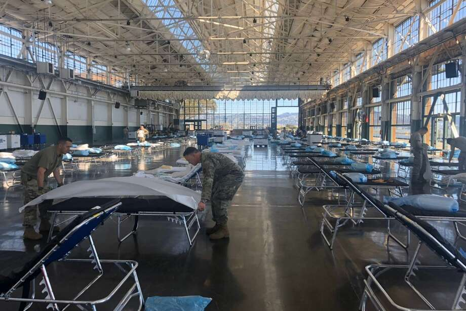 As part of local emergency preparations, Contra Costa County has worked federal and state partners to convert the Craneway Pavilion in Richmond into a 250-bed medical station for COVID-19 patients. Photo: @supejohngioia / Twitter