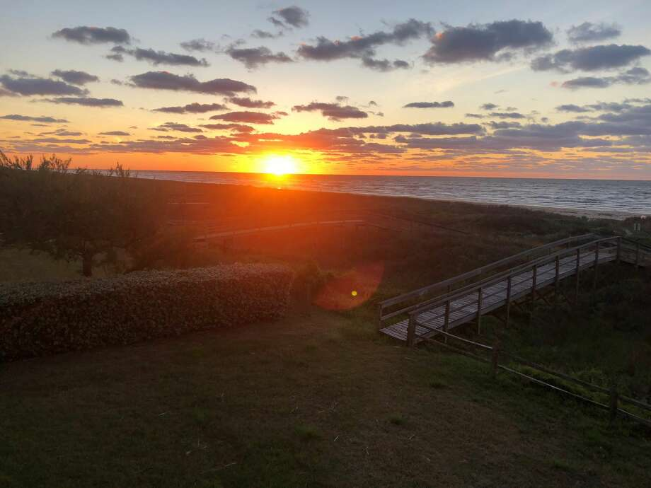 These are the remarkable images of sunrise coming up on the now-desolate Jamaica Beach near Galveston. Galveston beaches were closed to the public on Sunday, March 29, 2o2o. Officials shut the beaches down after concerns over COVID-19 spread. Photo: Alison Medley
