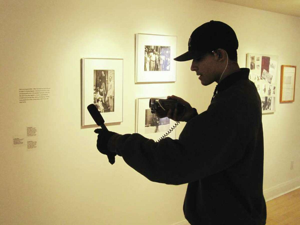 A student from The Art of Filmmaking filmed a Bridge Academy field trip to the Westport Arts Center gallery this past December.